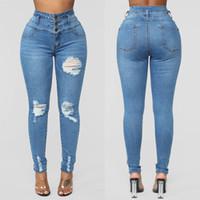Alta Qualidade Europeia e Americana Jeans Womens High Cinturados Calças Stretch Senhoras Novo Estilo Jeans Tamanho S-3XL