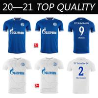 2020 2021 New Schalke 홈 블루 축구 유니폼 20 21 Schalke 04 Away Football Shirts 2019 # 7 UTH Serdar Bentaled Caligiuri Football Jerseys