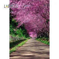 Laeaco розовые весенние фоны для фотографии цветущие цветы дерево парк парк сад способ живописной фотографии фона фото студия1