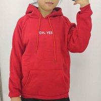 Autunno inverno moda rosso pullover Ohyes stampa harajuku addensare allentato donne felpa con cappuccio felpa casual cappotto casual cappotto femmina cappotto-spalla1