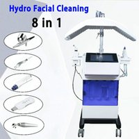 8 일 Hydrafacial 기계 산소 얼굴 아쿠아 깨끗한 물 필링 크리스탈 다이아몬드 미세 박피술 히드라 얼굴 기계