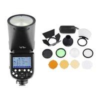 estúdio de flash de câmera profissional cabeça redonda sem fio 2.4G Fresnel Zoom para D5300 D750 D850 D7100 Z7Cameras Camcorder