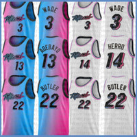 أسود Dwayne dwyane 3 جيمي واد تايلر 21 بتلر 14 هيرو كرة السلة جيرسي جديد بام 13 adebayo الفانيلة 2021 جديد