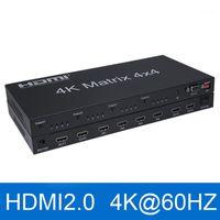 4x4 matriz switch splitter caixa 2.0 matrix 4x4 4k @ 60Hz com áudio out 4 em 4 out 4kx2k hdcp 1.4 com eDIDRS232 CONTROL1