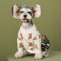 لطيف الدب المطبوعة الكلب سترة ماركة جرو الكلب الملابس الخريف الشتاء ملابس الحيوانات الأليفة سترة تيدي شنافير كلب صغير كلب صغير