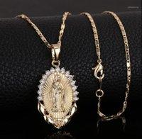 Kolye Kolye Kutsal Bakire Mary Kolye Din Daimty Altın Hıristiyan Kübik Zirkon Kadın Collier Femme Jewelry1
