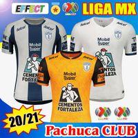 2020 2021 Pachuca Club 축구 유니폼 홈 멀리 Día de Los Muertos 셔츠 옐로우 20/21 Liga MX Kit 유니폼 축구 셔츠 유니폼