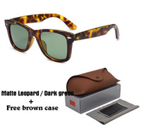 2018 Batı Stil Marka Tasarımcısı Güneş Gözlüğü Erkekler Kadınlar Için Klasik Vintage Erkek Sürücü Güneş Gözlükleri Kılıf ve Kutu Ile UV400 Lens