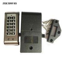Mot de passe Verrouillage du clavier électronique privé Stockage Locks Cabinet intelligent avec le code de combinaison numérique pour porte Salle de bains Golf