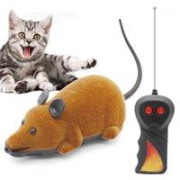 Кошка игрушки смешные флокирование ABS беспроводной RC электрические крысиные мыши игрушка игрушка дистанционного управления мышь для домашних животных котенок играет детские игрушки1