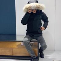 Canada Hiver Hommes Hommes Homme Homme Jassen Chaquetas Parka Vêtements De Vêtements De Grande fourrure À Capuche Fourrure Manteau Down Vestes Manteau Hiver Doudoune Silver Label