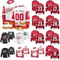 Detroit Red Wings Jersey Kevin Boyle Thomas Greiss Troy Steche Vladislav Namestnikov Marc Staal 2020 Jerseys de Hóquei Costume Costume