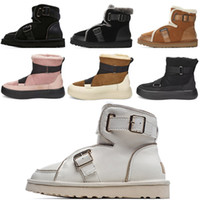 Top Australia Mini Mujeres Plataforma Diseñador uggs ugg ugglis  wgg Para Mujer Hebilla Motorccle Boot Girls Bailey Bow Australian Winter Fur Snow Locomotor Break Boots