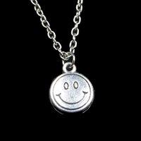 여성 초커 목걸이 크리 에이 티브 보석 파티 선물 웃는 얼굴 펜던트 목걸이 링크 체인 미소 패션 12mm
