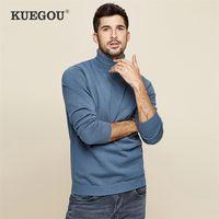 Keegou outono inverno homem camisola de tricô gola alta gola gola homens quentes camisola moda cavalheiro plus size xz-8923 201221
