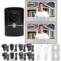 """Doorbells 7 """"LCD TÉLÉPHONE DE PORTE VIDÉO WIRE CLIQURE DE DOIPELLE DE SORTE D'ENTRÉE DE MAISON 1V2 815FG12 Bague"""