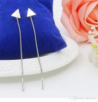 Серьги для женщин Оптовая Простые Геометрическая Металлические цепи кисточки уха ювелирные изделия серьги серьги падения год сбора винограда с длинной цепью