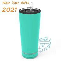 Mode 18 Unzen Tragbare Wasserflasche Bluetooth Lautsprecher Outdoor Music Grade 6 Wasserdichte Sprecher Lebensmittel Grade Cup Valentinstag Geschenk