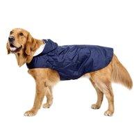 كبير الكلب المعطف للماء شبكة عاكسة مقنعين الحيوانات الأليفة ملابس المطر في الهواء الطلق المسترد الكلاب الملابس الازياء الاكسسوارات 33DT G2