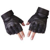 DHL или FEDEX 100 пар наполовину палец варежки армии Специальные силы боевые тренировки спортивные фитнес-тренажерный зал перчатки