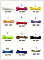 Çok Renkli Rahat Spor Elastik Shoelace Metal Kapsül Toka 100 CM Yarım Daire Tembel Shoelace Ücretsiz Shoelace Ayakkabı Parçaları Aksesuarları
