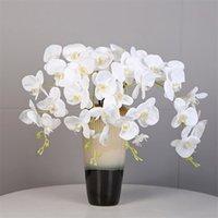 """5 pcs falso haste longa látex orquídea (9 cabeças / pedaço) 39.34 """"simulação real toque phalaenopsis para casamento home artificial flores Y0104"""