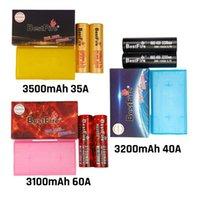 Auténtico BestFire 18650 Batería IMR BMR Recargable Vape Vape Mod Batería 3100mAh 3200mAh 3500mAh 35a 40a 60a rojo negro amarillo plano