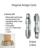 Amigo Classic Liberty V9 cartucce 0.5ml 1.0ml ceramica 510 Carrello Vuoto Vuoto monouso Penns Penns Vetro Serbatoio di vetro regolabile Top Flow Flow Flow