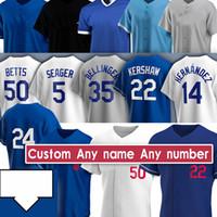 35 Cody Bellinger 50 Mookie Betts Jackie Robinson Clayton Kershaw Corey Seager Walker Bühler Justin Turner Custom Baseball Trikots