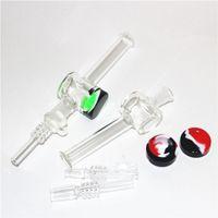 Hookahs Mini Néctar Kit de Coletor de Quartzo Dab Palha De Vidro de Água Tubos Bong Tubulação de Fumar Titânio Quarta Rigs Rigs Rigs Dabs