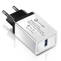 Однократное зарядное устройство USB QC 3.0 Быстрое зарядное зарядное устройство USB 3.1A Домашняя быстрая зарядка для iPhone XS MAX Samsung S8 S9
