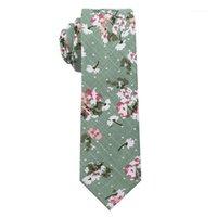 Yay Ties Pamuk Karışımı Iş Parti Çiçek Baskılı Manolya Çiçek Moda Düğün Ince Sıska Erkekler Kravat Cravat Giyim Aksesuar1