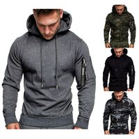 Men's Size M-2XL New 2020 Autumn Winter Hoodies Sweatshirts Solid Color Casual Long-sleeved Male Pullover Hooded Sweatshirts Top