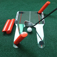 PC Golf Alignment Trainer Aid Swing Training Speed Trap Prac...