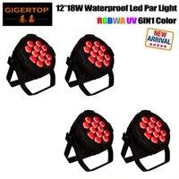 Tiptop 4 وحدات للماء 12x18W LED شقة الاسمية ضوء المهنية دي جي المرحلة الإضاءة IP65