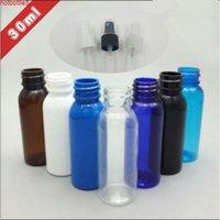 Envío gratis 30 ml blanco negro claro azul marrón oscuro plástico pulverizador botella de perfume toner parfume vacío embalaje embotellamiento buena calidad