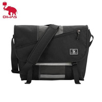 Oiwas Homen's Canvas Messenger Bag Mochilas 15 polegadas Laptop Bolsas de ombro Casual Viajando Adolescentes Sling Crossbody Pack para Outdoor 201102