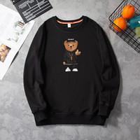 Marca de la marea Autumn Hombres Cuello redondo Suéter Suéter Versión coreana de la tendencia de la camisa de los osos Sports Suelos Casual Camisa de los hombres