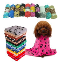 Adorável animal de estimação Cães Cães Cama Mat Mat Macio Inverno Moreto Fleece Pata Design Design Pet Cachorrinho Sofá Pet Produto Toalha de Capa de Almofada