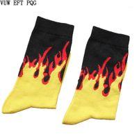 Yetişkin Boyutu Vuruş Rengi Yandan Ekip Kısa Çorap Yakacak Odun Fagot Kontrast Alevler Blaze Güç Torch Sıcak Sıcaklık Gençlik Tutku Skate1