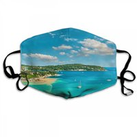 Natal Cara do Máscara Masque Decorações de Natal Turquoise Sea And Cotton Mouth Mask Muffle Para Ciclismo Camping Viagem