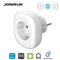JoinRun WiFi Smart Socket Socket UE Power Plug Smart Plug Mobile Application Télécommande La sortie USB fonctionne avec Amazon Alexa Google Home1