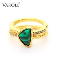 Varole Mode Big Pierre et cristal Bague Gold Color Anneaux Pour Femmes Mode Bijoux Cadeaux DropShipping Anillos