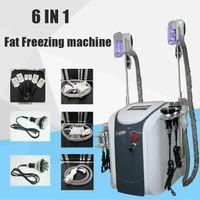 6 in 1 Fat Congezing Machine Vita Dimagrante Cavitazione RF Laser Lipo Laser 2 Le teste di congelamento possono funzionare allo stesso tempo