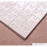A4 Сублимационные пустые головоломки 120 шт. DIY Craft Heat Press Trans Trans Crafts Jigsaw Puzzle Белый A4 Пустой Puzzl SQCDDR BNET