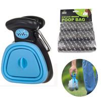 Pet Köpek Poop Çanta Dağıtıcı Seyahat Katlanabilir Pooper Scooper Poop Scoop Temiz Hayvan Atık Seçici Temizleme Araçları Pet Ürünleri