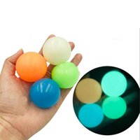 6.5cm Ceiling Balls Glow in The Dark Fluorescent Sticky Wall Balls Sticky for Ceiling Target Ball Decompression Relax Toy Stress Ball FY7384