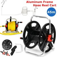38x35x25cm Home Garden Hose Reel Holder Rack Pipe Storage Cart Gardening Water Planting Cart Aluminum Frame Irrigation Supplies