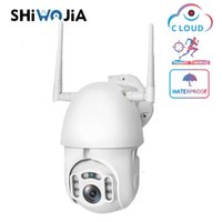 SHIWOJIA 1080P Wolke IP-PTZ-Kamera Wifi Wireless Outdoor Startseite Auto-Tracking-Dome-Kamera wasserdichte Sicherheit CCTV-Überwachungs