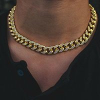 12mm Eiste Miami Diamant Kubanische Verbindung Kette Real 14k Gelbgold Feste Kubanische Kette 16 Zeche 18 Zünd 20 Zoll 22inch Kubikzirkonia Schmuck